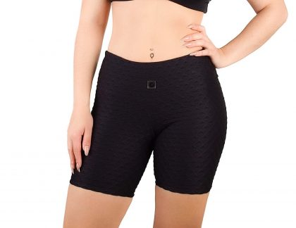 Fit shorts with texture effect for women
