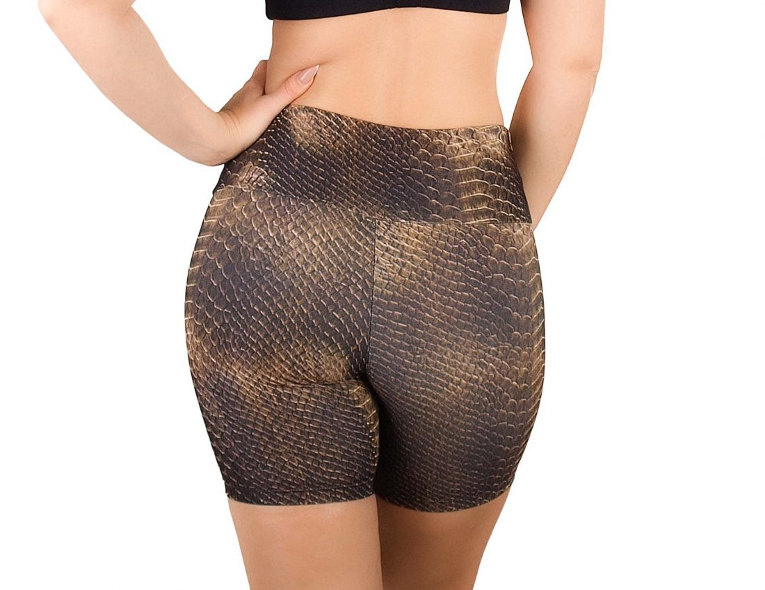 Printed animal tight shorts for women