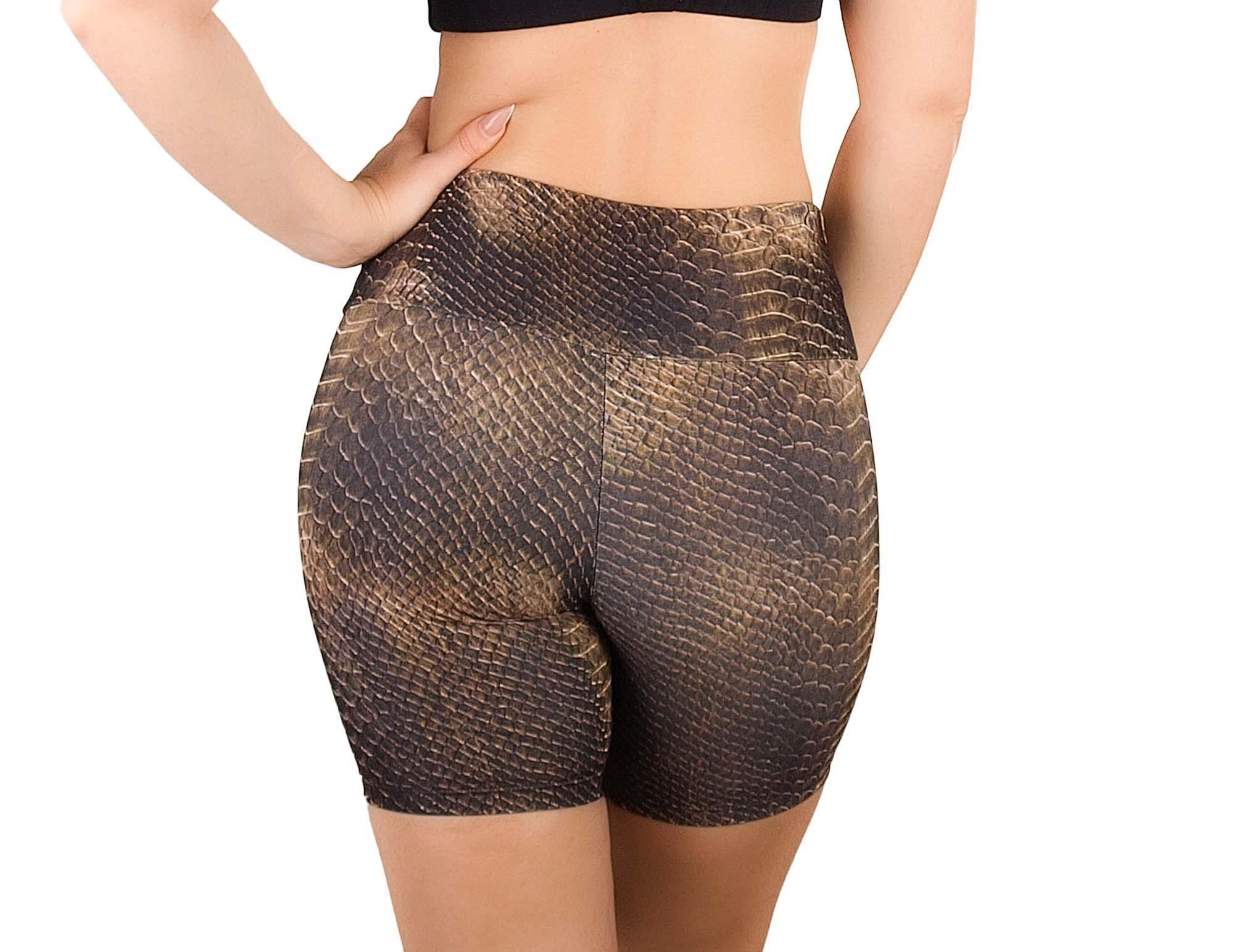 Shorts ajustados con estampado de animales para mujer