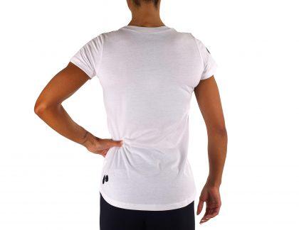 T-shirt manga curta para mulher