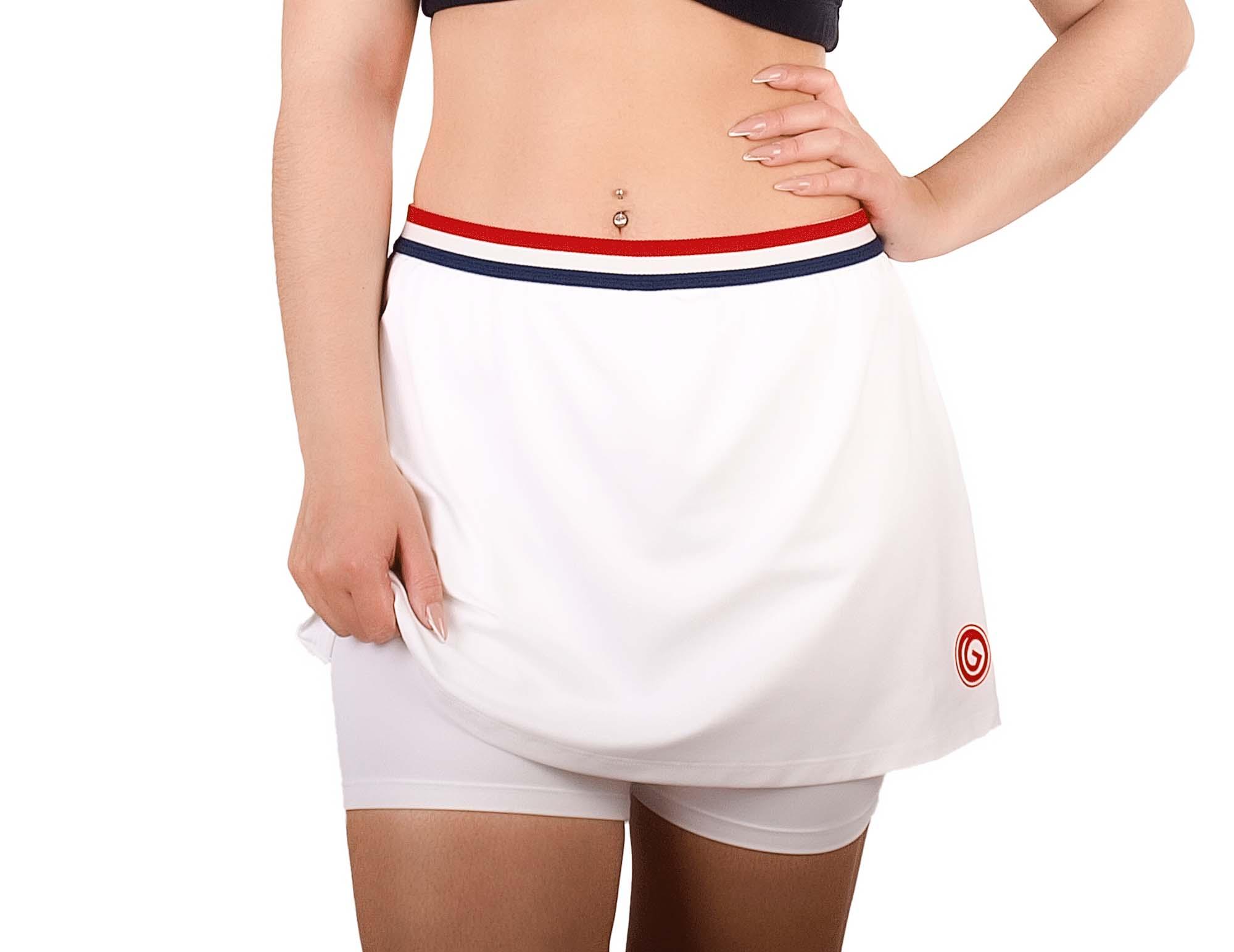 Falda short de poliamida blanca