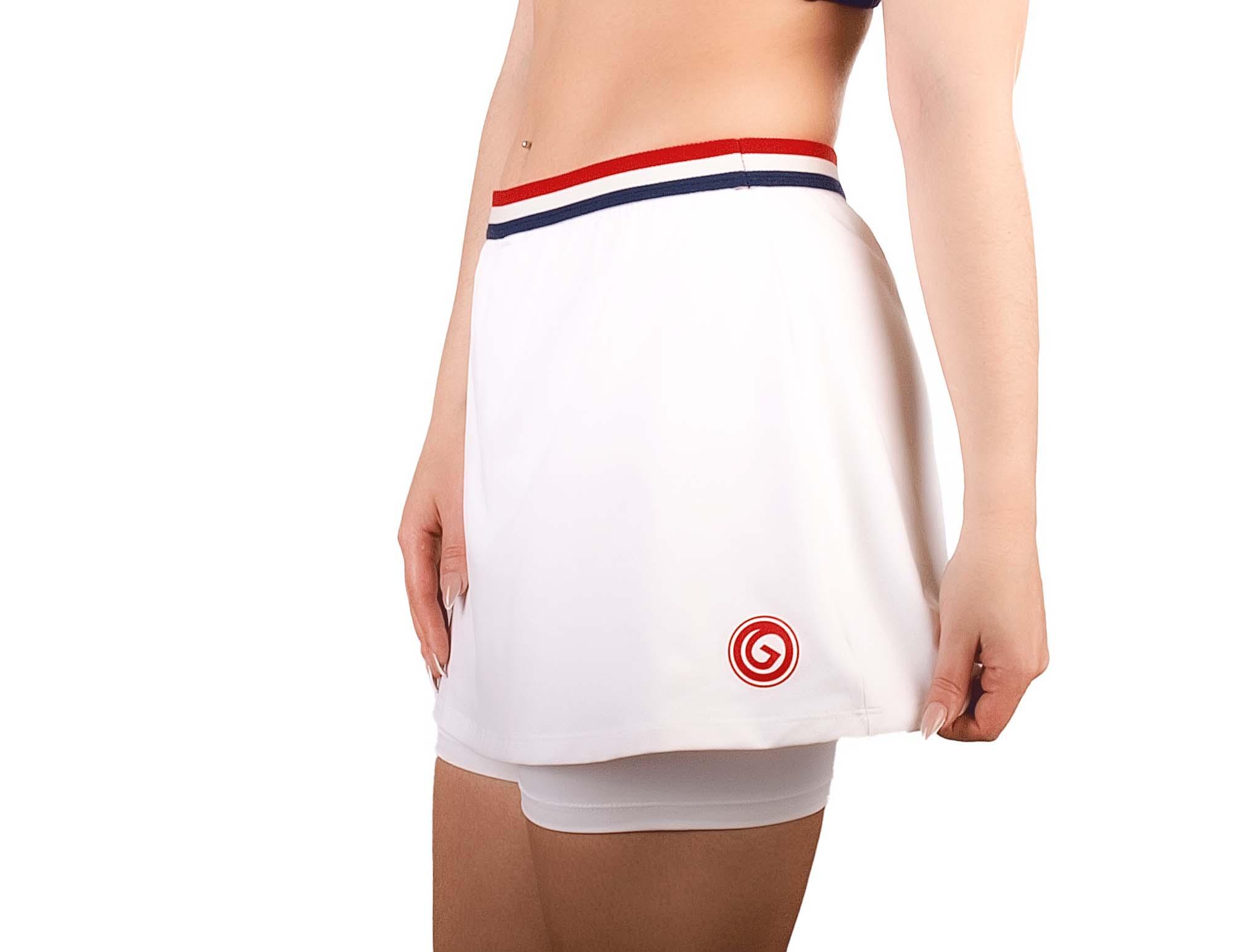 Jupe short en polyamide blanc