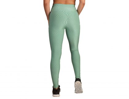 Leggings desporto cintura subida em malha com relevo push up
