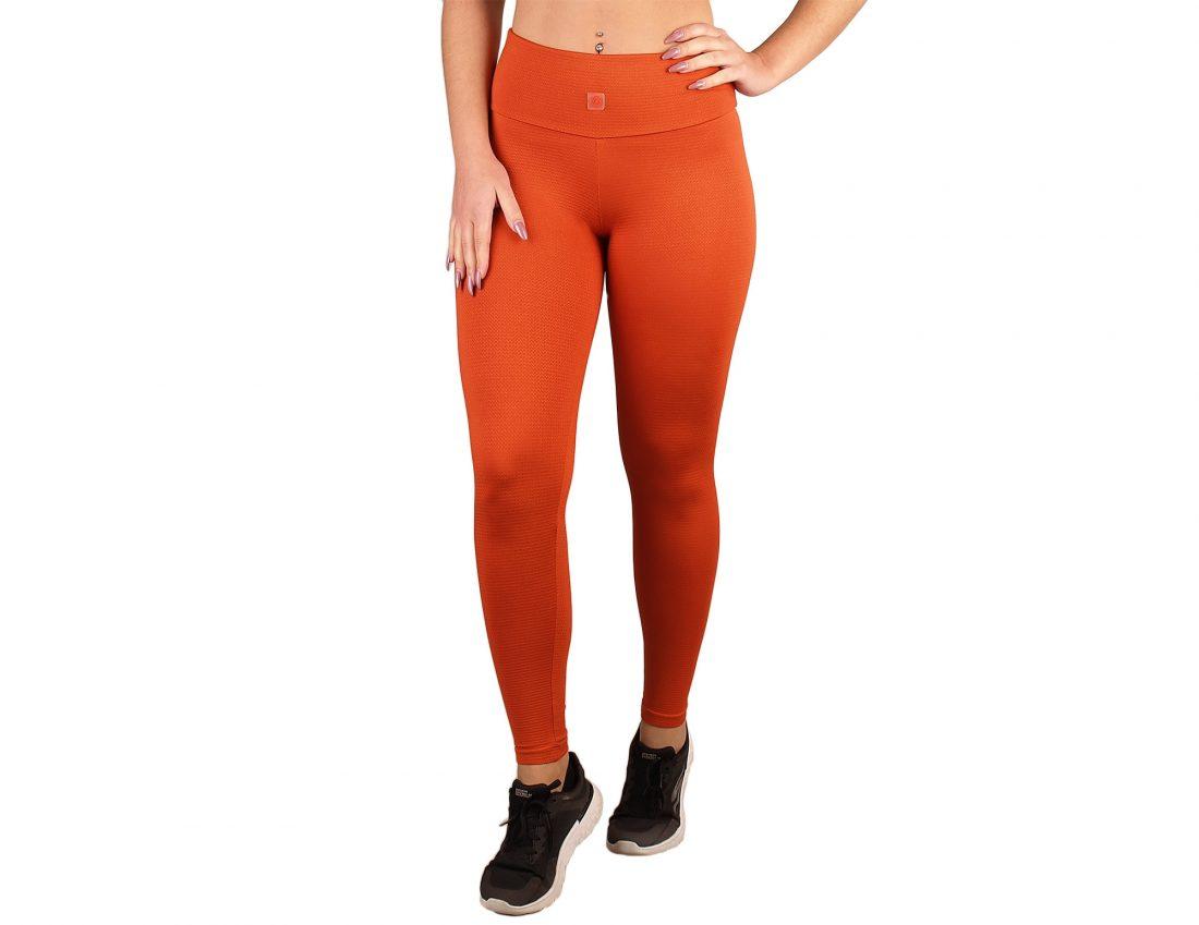 Legging cintura alta e efeito textura
