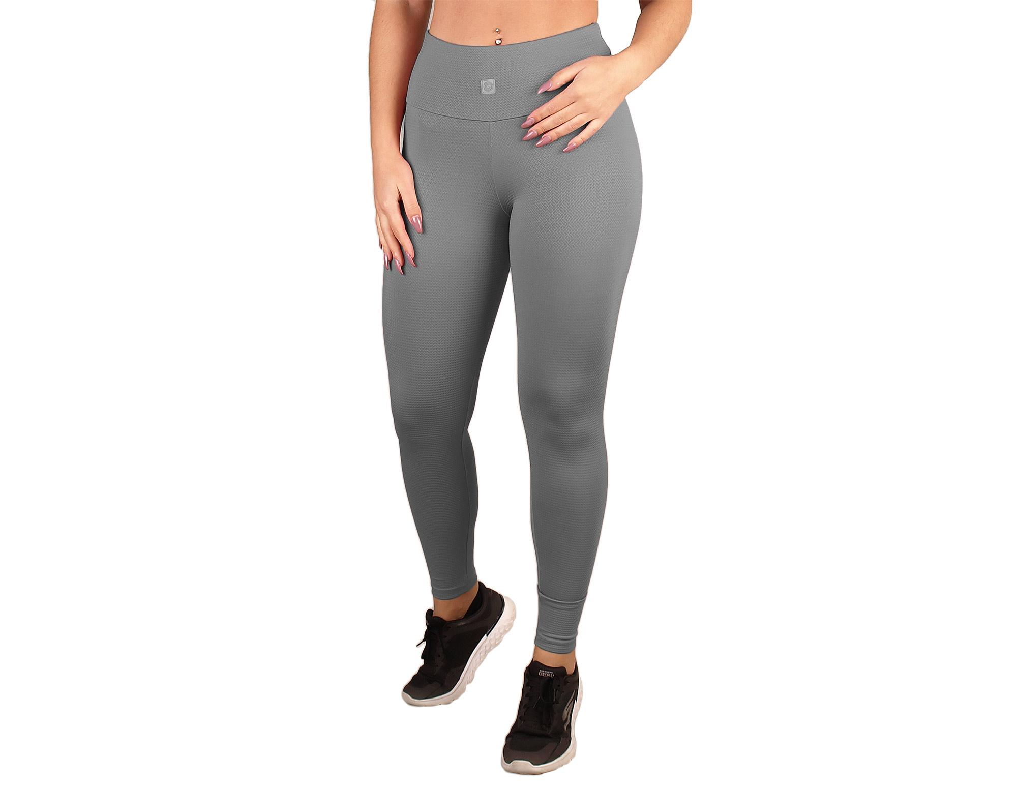 Efecto de textura y legging de cintura alta