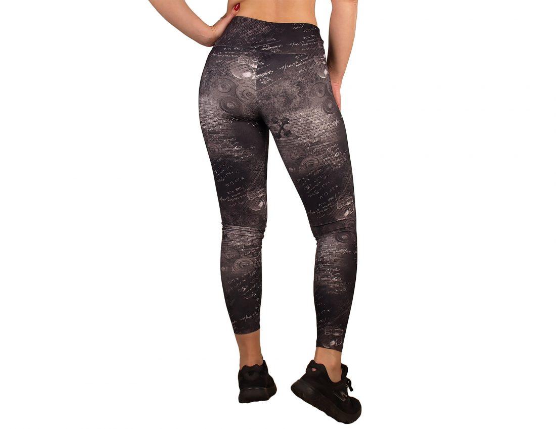 Legging desporto mulher estampado e cintura alta