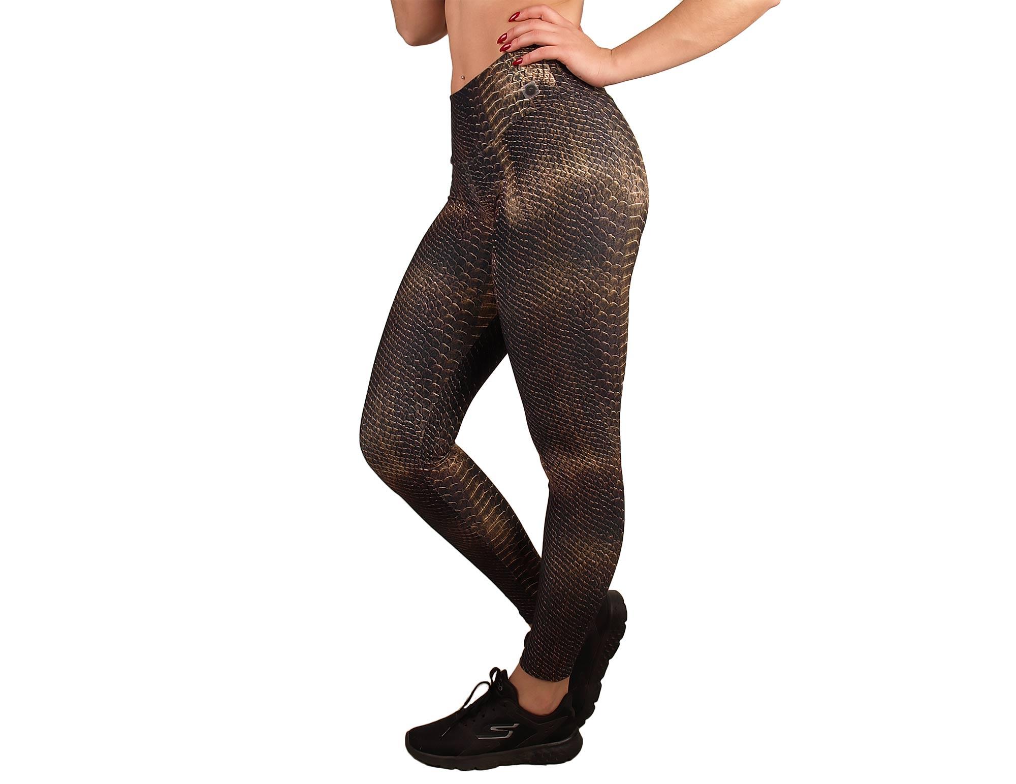 Legging sport mujer cintura alta animal estampado