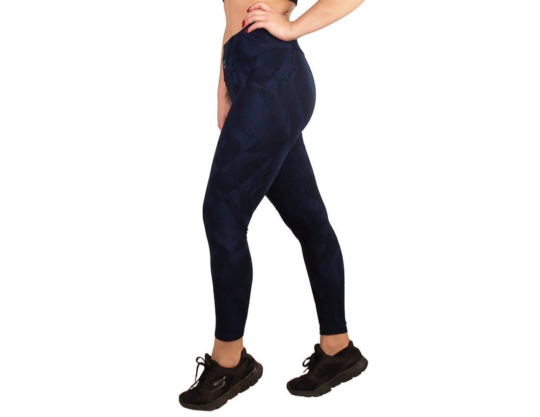 Woman sport legging high waist with texture effect