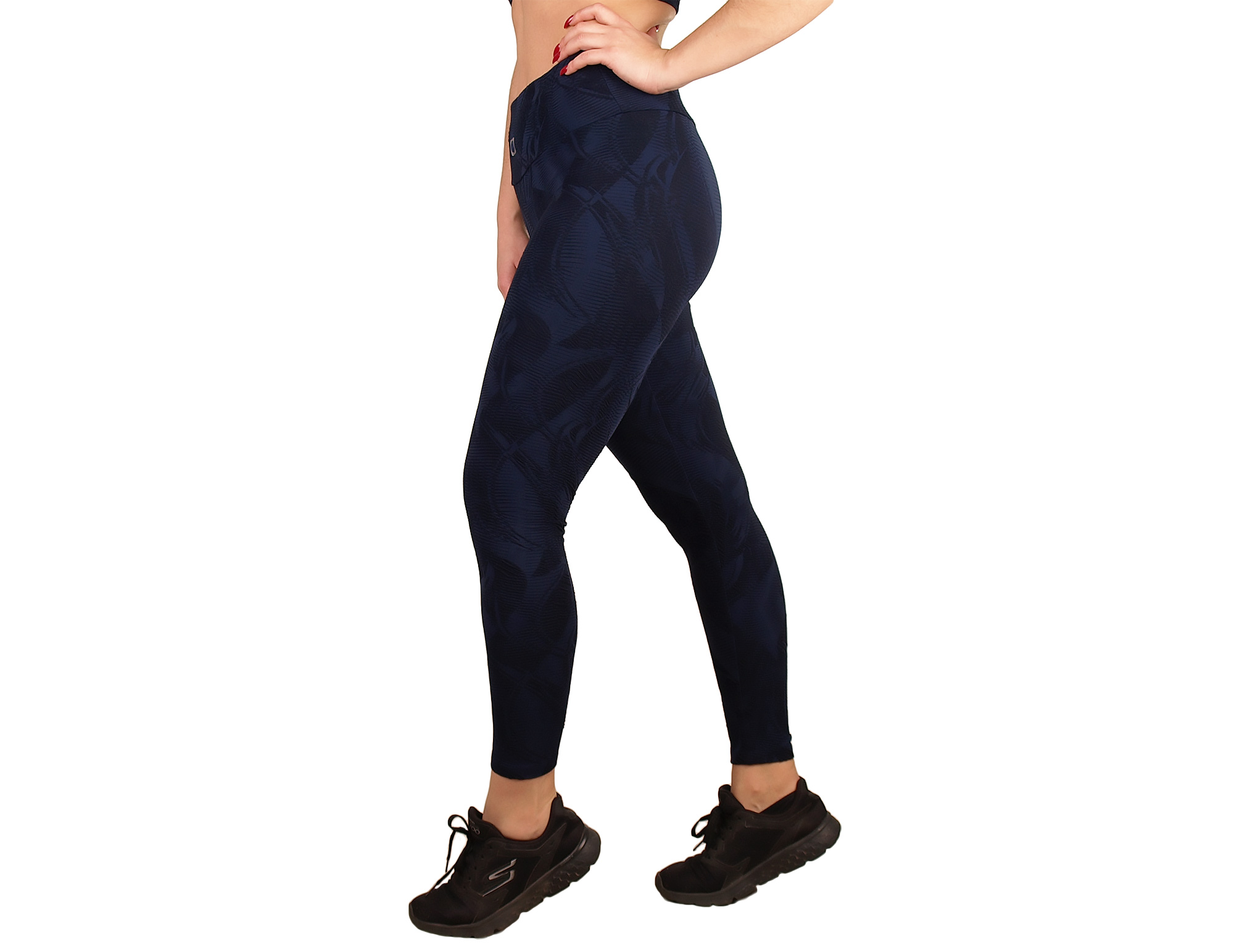 Legging mujer sport cintura alta efecto textura
