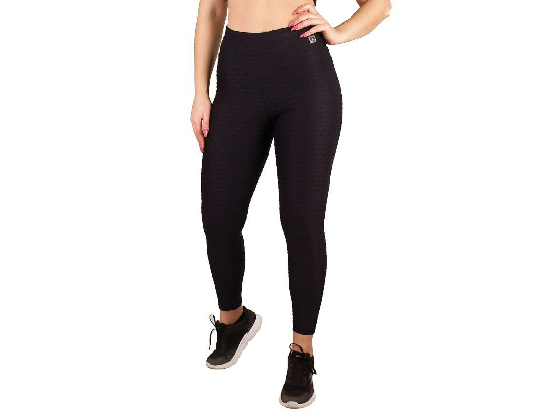 Sporty legging with high waist and V-waistband