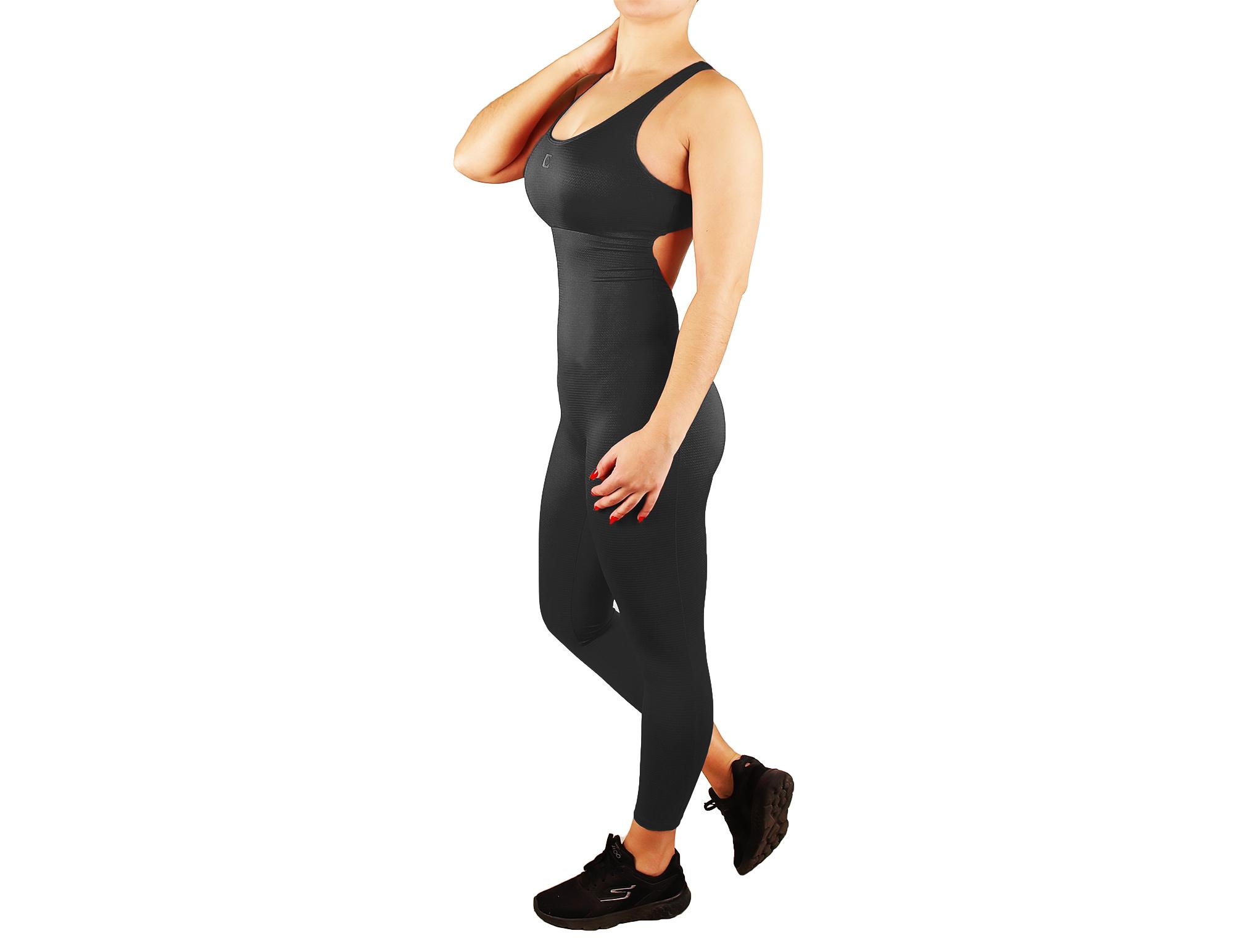 Combinaison de fitness pour femme avec effet de texture