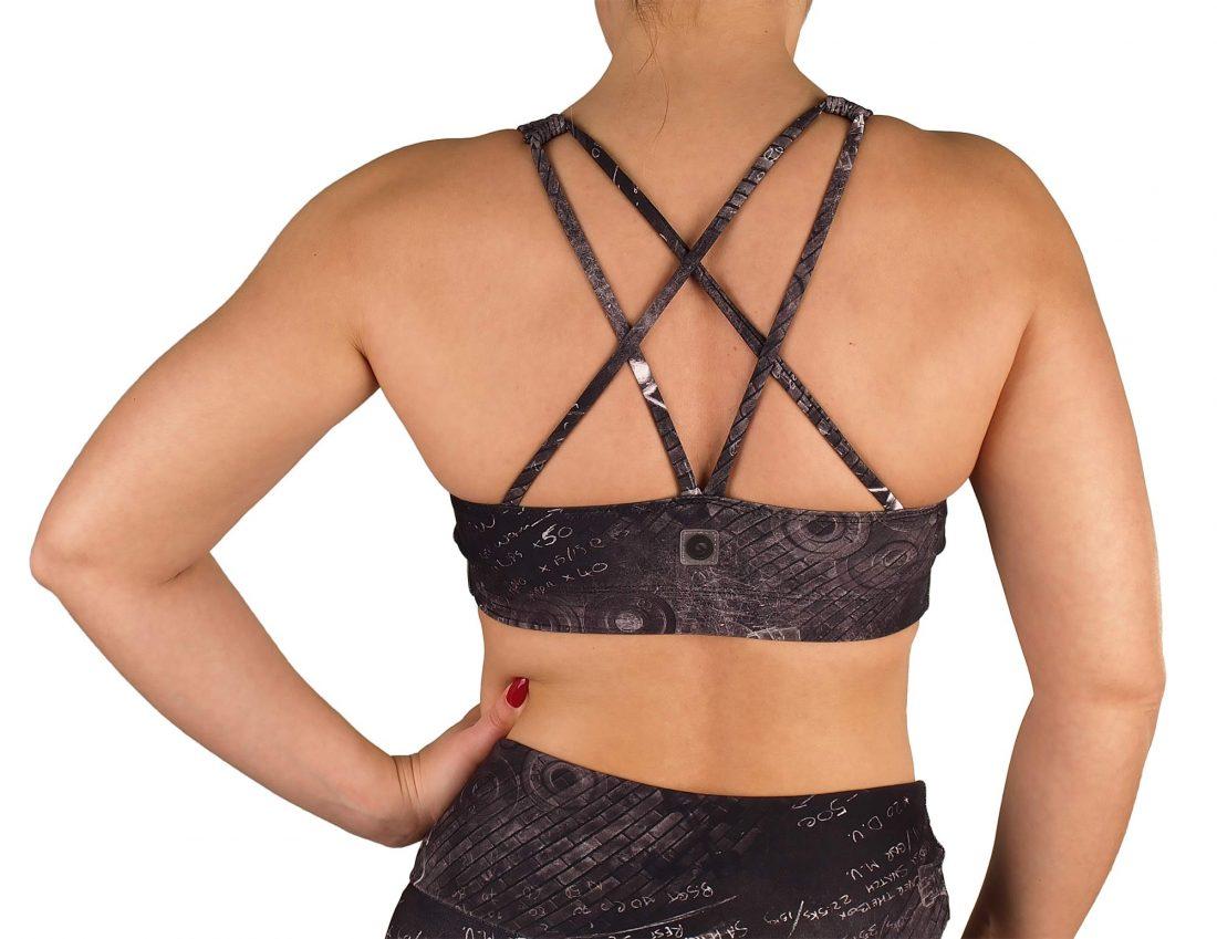 V-neck short gym top
