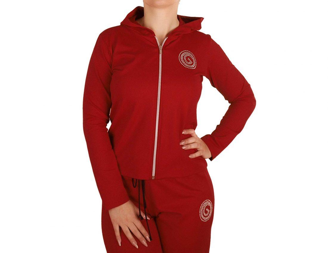 Women's jacket with zip and hood