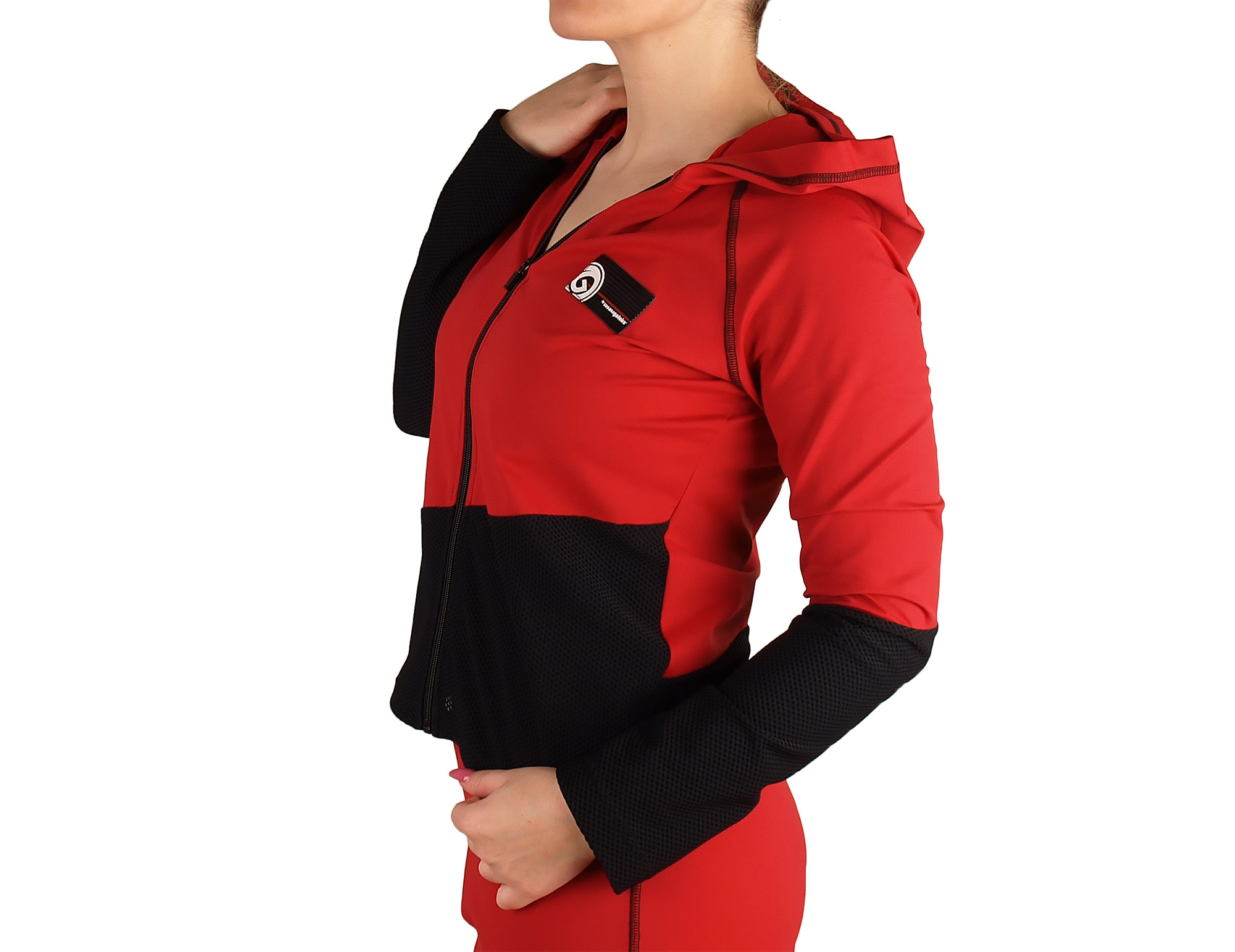Women's jacket with hood and zipper